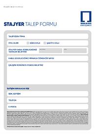 Stajyer Talep Formu
